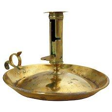 English George III Brass Push-Up Chamberstick