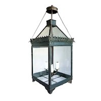 Anglo Indian Toleware Three-Light Hanging Lantern