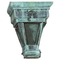 American Copper Scupper as a Wall Sconce Light