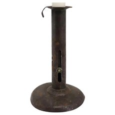 Primitive Iron Hogscraper Candlestick