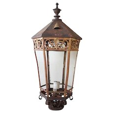 American Cast Iron and Bronze Street Light Post Lantern
