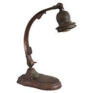 American Handel Brass Goose Neck One-Light Table Lamp Base