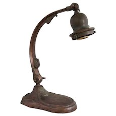 American Handel Brass Goose Neck One-Light Table Lamp Base