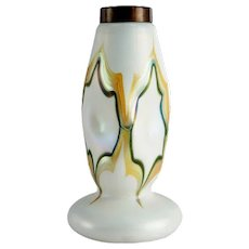 American Art Nouveau Glass Table Lamp Base Quezal