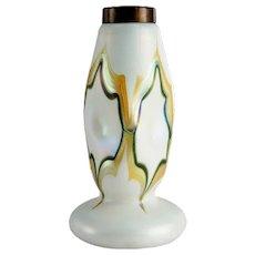 American Art Nouveau Glass Table Lamp Base Quezal