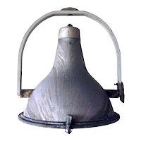 Large Italian Fidenza Vetraria Mid Century Industrial Armature Hanging Light