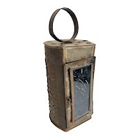 Small American Punched Toleware Lantern