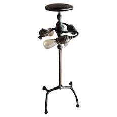 American Tiffany Studios Art Nouveau Bronze Three-Light Table Lamp Base