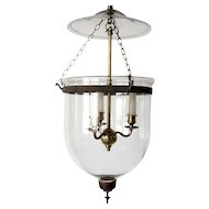 Anglo Indian Regency Style Glass 3-Light Hall Lantern (Hundi)