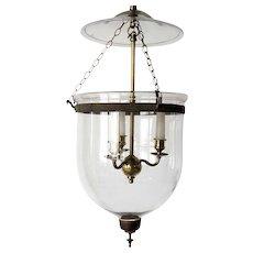 Anglo Indian Regency Style Glass 3-Light Hall Lantern (Hundi)