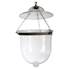 English Regency Style Glass Hanging Hall Lantern