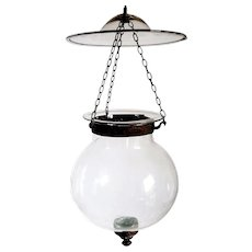 Small Belgian Export Glass Globe Hall Lantern