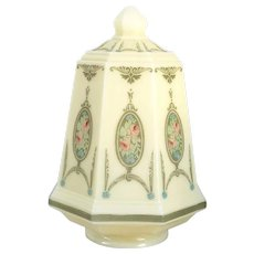 American Transfer Decorated Glass Hall Lantern Shade