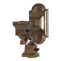 Small American Craftsman Brass Two-Light Wall Light Sconce