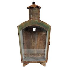Anglo Indian Toleware Arched Top Lantern
