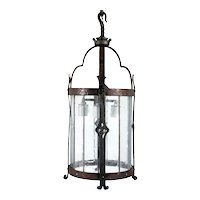 American Albert Sechrist Gothic Revival Hammered Wrought Iron Four-Light Pendant Light