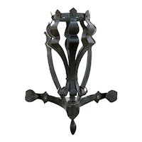 American Medieval Style Painted Wrought Iron Sconce Light