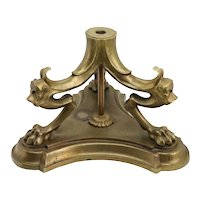 American Pompeiian Style Gilt Bronze Table / Floor Lamp Base