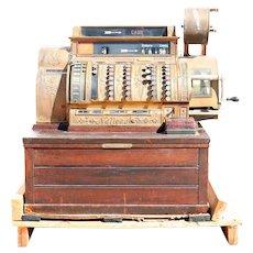 Large Vintage American National Brass and Wood Model 562 Cash Register
