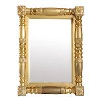 Small American Empire Classical Giltwood Mirror