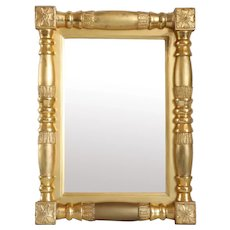 Small American Empire Classical Giltwood Mirror