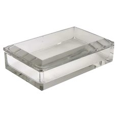 Belgian Val St. Lambert Cut Glass Rectangular Dresser Box