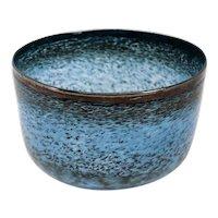 Swedish Bertil Vallien for Boda Blue Art Glass Bowl