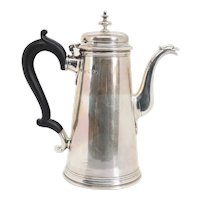 English Edwardian James Parkes Sterling Silver Coffee Pot