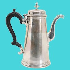 English Edwardian James Parkes Sterling Silver Coffee Pot