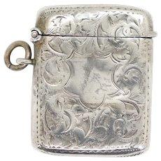 English George V T.H. Hazelwood & Company Sterling Silver Vesta Case