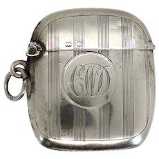 English Edwardian Henry Williamson Sterling Silver Vesta Case