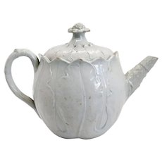 Rare English Wedgwood Creamware Pottery Cabbage Leaf Teapot