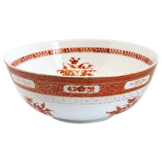 Russian Gardner Iron Red and Gilt Porcelain Bowl for the Persian Market