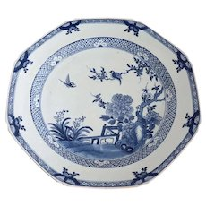 Chinese Export Porcelain Blue and White Octagonal Charger