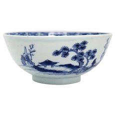 Chinese Export Blue and White Porcelain Nanking Cargo Shipwreck Bowl