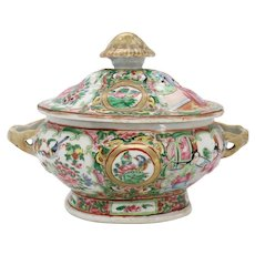 Chinese Export Porcelain Famille Rose Sauce Tureen