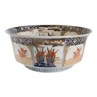 Japanese Late Edo Porcelain Imari Bowl