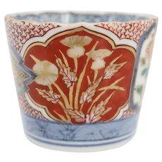 Japanese Imari Porcelain Sake Soba-Choko Cup