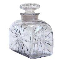 English George III Cut Glass Tea Caddy Bottle Decanter