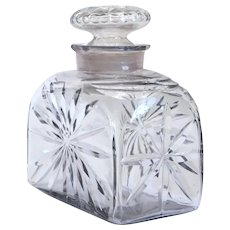English George III Cut Glass Tea Caddy Bottle Decanter