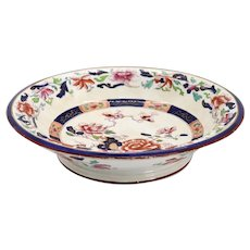 English Brownfield & Sons Ironstone Pottery Imari Palette Footed Bowl