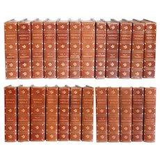 Set of 24 Leather Bound Books: Waverley Novels by Sir Walter Scott