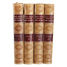 Set of Four Books: Half-Hours with the Best Authors by Charles Knight