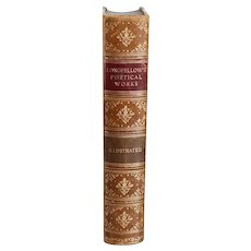Leather Bound Book: The Complete Poetical Works of Henry Wadsworth Longfellow
