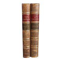 Set of Two Leather Bound Books: The Life of William Wilberforce
