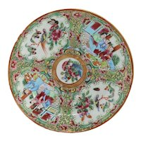 Chinese Export Famille Rose Porcelain Saucer