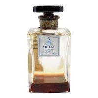 Vintage French Arpege Extrait de Lanvin Glass Flacon Carre Perfume Bottle