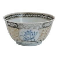 Small Chinese Export Qing Porcelain Excavated Tea Bowl
