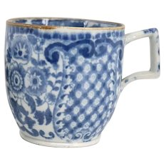 English Regency Pearlware Blue and White Tea Cup