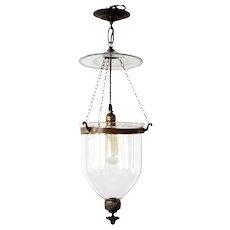 Anglo Indian Glass One-Light Hall Lantern (Hundi)